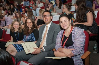 (L-R) Danielle Novetsky-Friedman, Nicole Kucine, Babak Navi, and Marianne Nellis attended the 2015 Convocation Ceremony